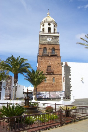 guadalupe island: Historic Catholic church of Teguise, Lanzarote island, Spain