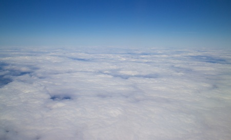 cloudscapes: View on beautiful cloudscapes from an airplane Stock Photo