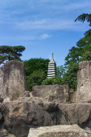 seepark: Stone Sculpture in a beautiful Japanese Garden