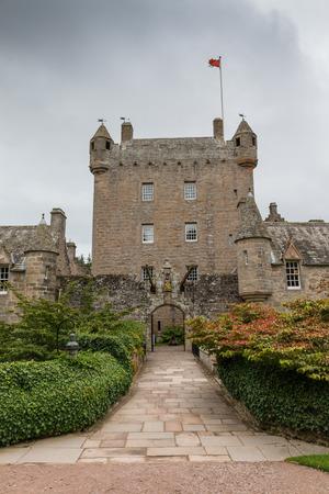 유명한 스코틀랜드 Cawdor 성, 셰익스피어의 비극에서 알려진 Macbeth