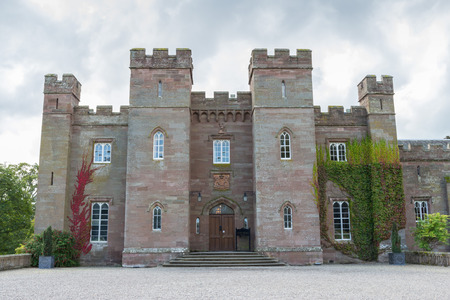 stone of destiny: Famous Scottish Scone Palace, where kings were crowned, near Perth