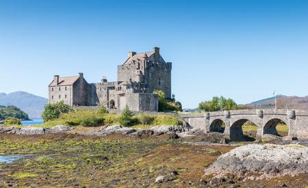 the jacobite: Famous medieval Eilean Donan Castle in Scotland