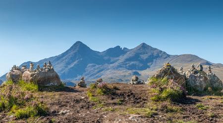 Barren Highlands landscape under the Cuillin Hills, isle of Skye, Scotland