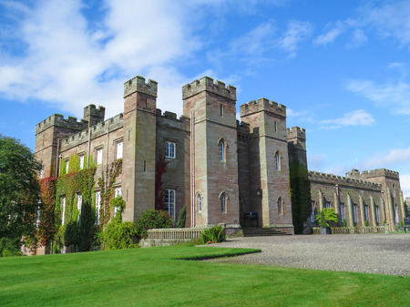 Famous Scottish Scone Palace, where kings were crowned, near Perth
