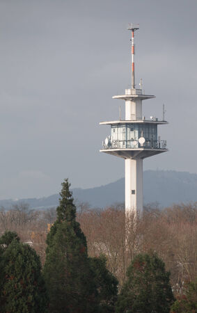 freiburg: Radio Tower in front of the Black Forest near Freiburg, Germany