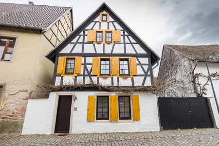 Historic timber-framed house in the old town of the city of Speyer, Germany