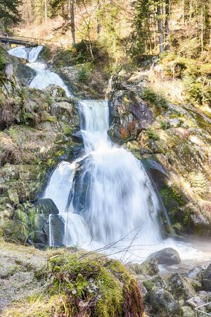 World famous Triberg Waterfalls in the Black Forest, the highest waterfalls in Germany, HDR version photo