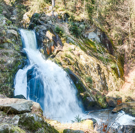 large formation: World famous Triberg Waterfalls in the Black Forest, the highest waterfalls in Germany, HDR version Stock Photo