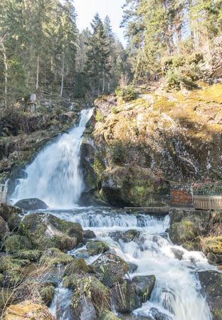 World famous Triberg Waterfalls in the Black Forest, the highest waterfalls in Germany photo