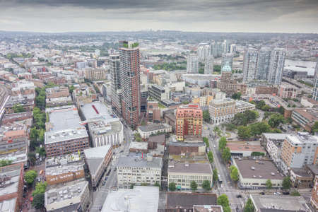 high rise buildings: View over the high rise buildings of Vancouver city, British Columbia, Canada