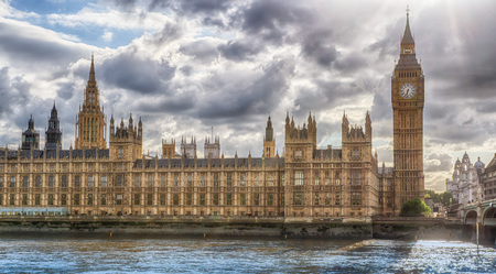 commons: HDR image of the London Houses of Parliament with world famous Big Ben clock tower