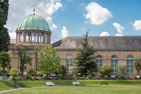 karlsruhe: Historic building called the Orangerie in the botanical garden of Karlsruhe city, Germany