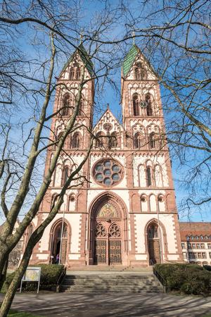 freiburg: Beautiful Herz-Jesu or Heart of Jesus church in Freiburg city, Germany