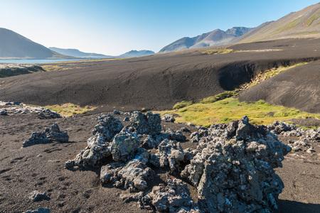 berserk: Barren lava field, resembling a black sand desert, called Berserkjahraun in the northwest of Snaefellsnes peninsula, Iceland