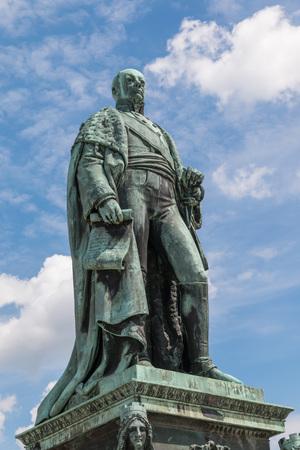 karlsruhe: Statue of Carl Friedrich von Baden, founder of the City of Karlsruhe, Germany