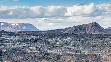 Lava desert in the famous Krafla mountains, a still active volcanic area near Myvatn, Iceland Фото со стока - 67098002