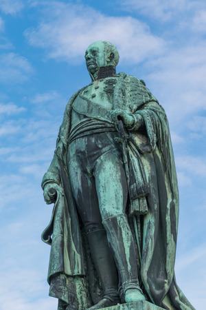 Statue of Carl Friedrich von Baden, founder of the City of Karlsruhe, Germany