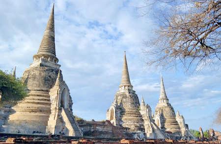 phra nakhon si ayutthaya: Wat Phra Sri Sanphet  in  Phra Nakhon Si Ayutthaya thailand
