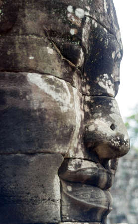 buddha face: Buddha face model in Cambodia .