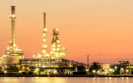 Oil Refineries and Evening Light.