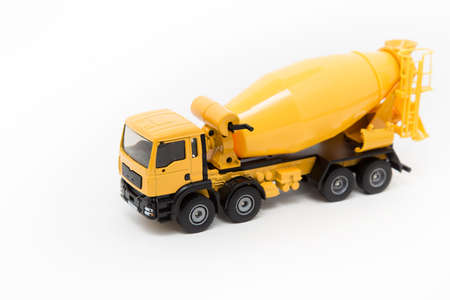 Cement truck on white background.