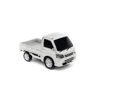 Pickup car on a white background.