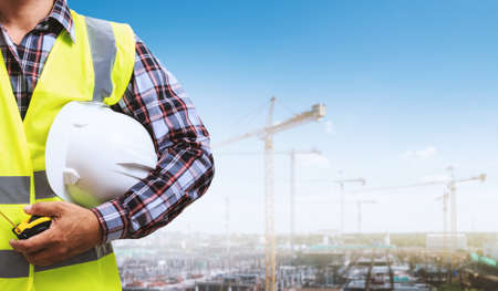 Building site and building design and engineers. Stockfoto