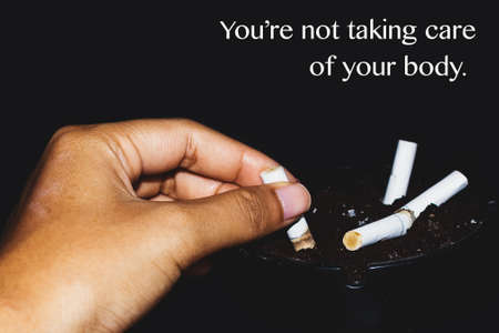 Campaign for people to quit smoking.