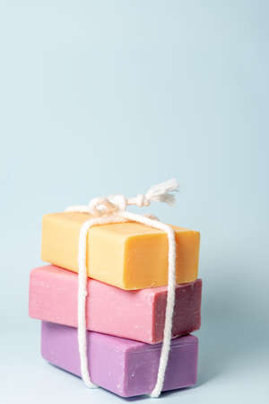 Handmade mixed fruit soap for healthy skin. Stok Fotoğraf
