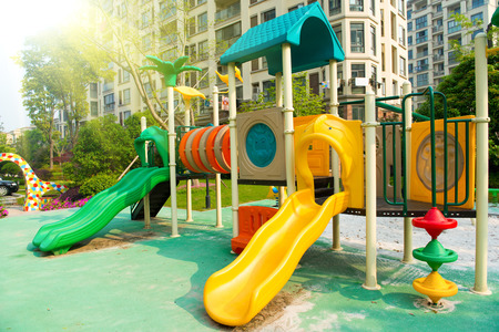 Plastic outdoor kids playground