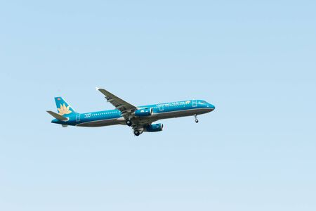 SHANGHAI, CHINA, April 2 2015:Vietnam Airlines  A321(VN-A399) flying in the sky. Editorial
