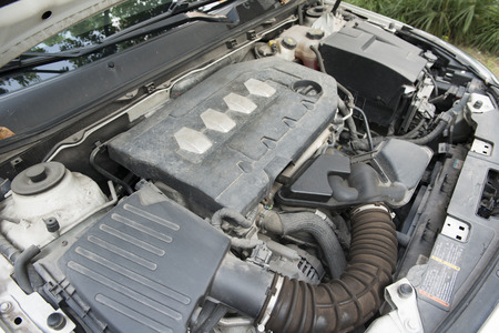 shiny car: car engine