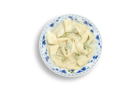 Chinese wonton dumpling in clear soup Stock Photo