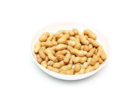 a plate of peanut on table