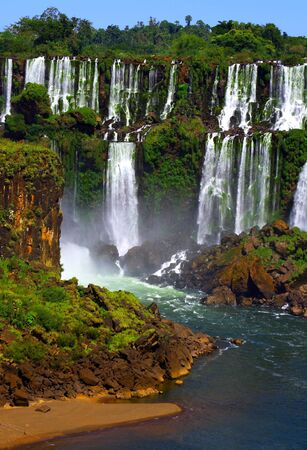 These are the Iguazoo Falls in Argentina.  photo