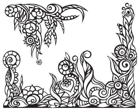 floral ornaments for border Vector