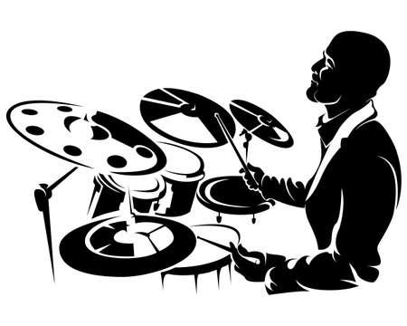 drummer, silhouette