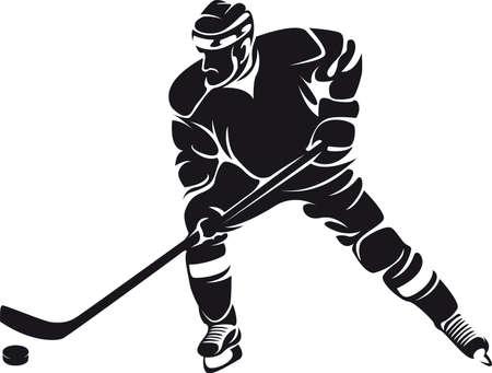 hockey player, silhouette