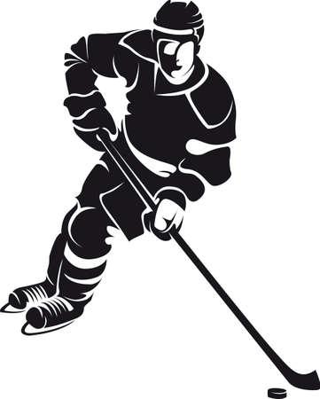 hockey sobre cesped: jugador de hockey, silueta