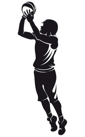 basketball player: basketball player, silhouette