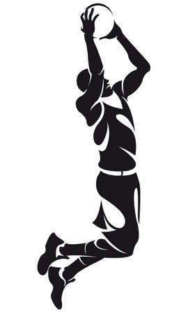 scoring: basketball player, silhouette