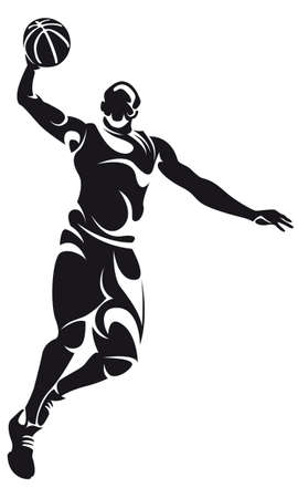 offense: basketball player, silhouette