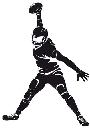 helmet: American football player, silhouette Illustration