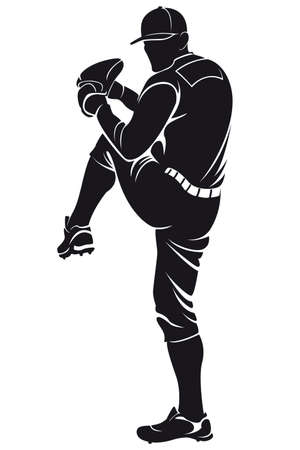 ballplayer, silhouette Illustration