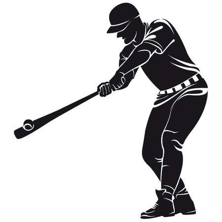 ballplayer, silhouette Иллюстрация