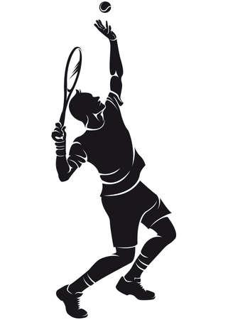 Tennisster, silhouet