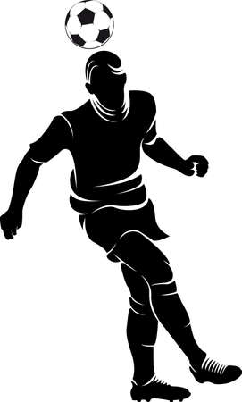 football player silhouette with ball isolated