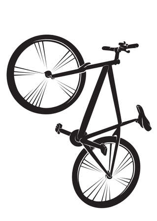 Bicycle. Vector silhouette on white