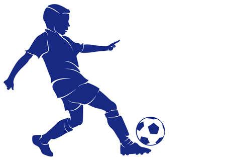 Jongen voetballer Stock Illustratie