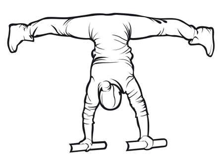 Sportief vrouw doet een oefenoefening Stock Illustratie